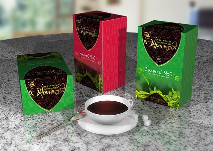 Разработка дизайна упаковки для чайной продукции